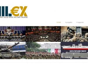 Progetto Mil€x sulle spese militari: partita la prima fase