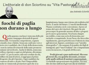 Don Sciortino: il problema non sono gli immigrati ma i giovani che lasciano il Paese
