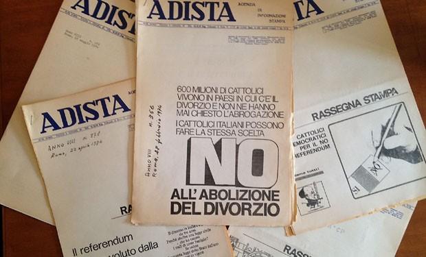 Un No politico e conciliare. Il contributo di Adista alla campagna divorzista del 1974