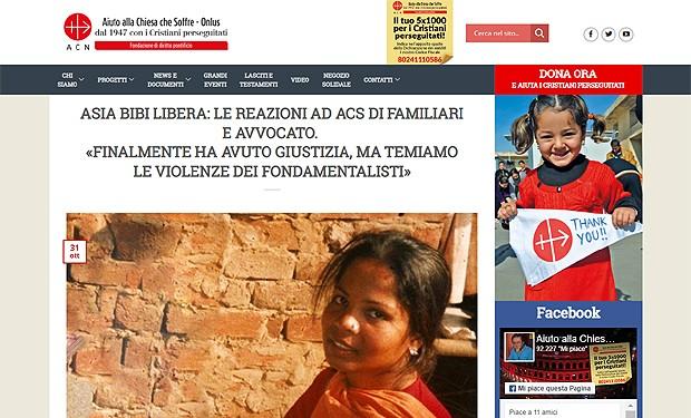 Asia Bibi libera: la gioia e la paura