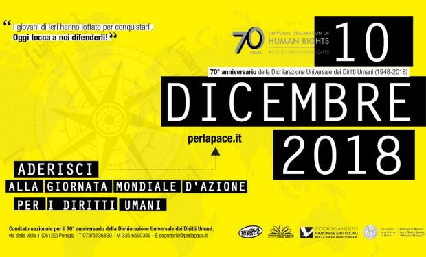 Flash mob il 5 dicembre a Roma per i diritti umani