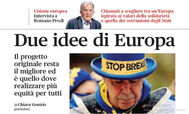 """Europa al bivio. """"Vita Pastorale"""" intervista Romano Prodi"""