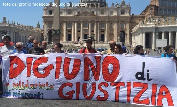 Digiuno di giustizia per i migranti: in marcia da San Pietro a Montecitorio