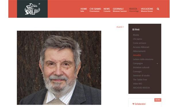 """Giustizia sociale e giustizia climatica nel pensiero di Giorgio Nebbia. Il ricordo di """"Missione Oggi"""""""