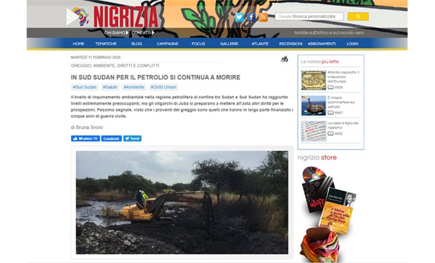 Diritti violati, malattie e devastazione ambientale. Gli effetti del petrolio del Sud Sudan