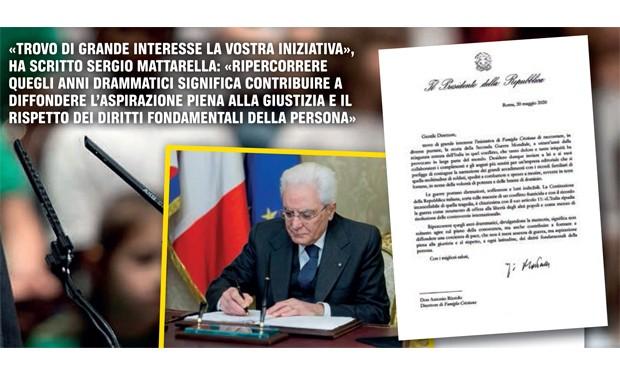 """Mattarella a """"Famiglia Cristiana"""": fare memoria della guerra per costruire una coscienza di pace"""