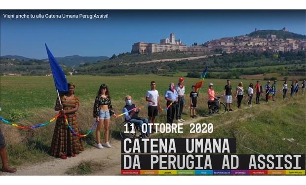 Catena umana per la pace: lo spot della #PerugiaAssisi in vista dell'11 ottobre