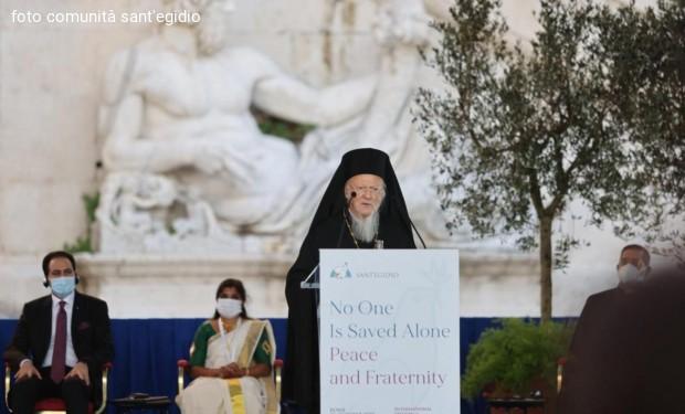 Incontro per la pace/Patriarca Bartolomeo: «Ecologia, salvezza dell'umanità e di tutto il creato»