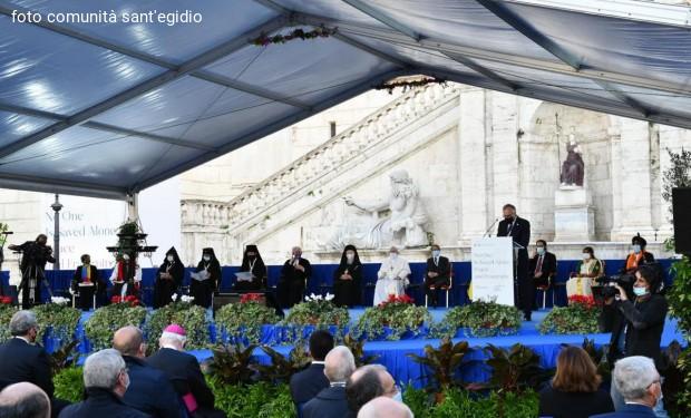 I leader religiosi dal Campidoglio: «La guerra è il fallimento della politica e dell'umanità».
