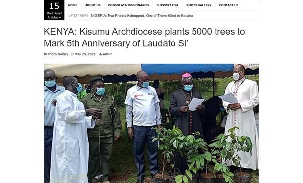 Kenya: piantare alberi per celebrare la Laudato si' di papa Francesco