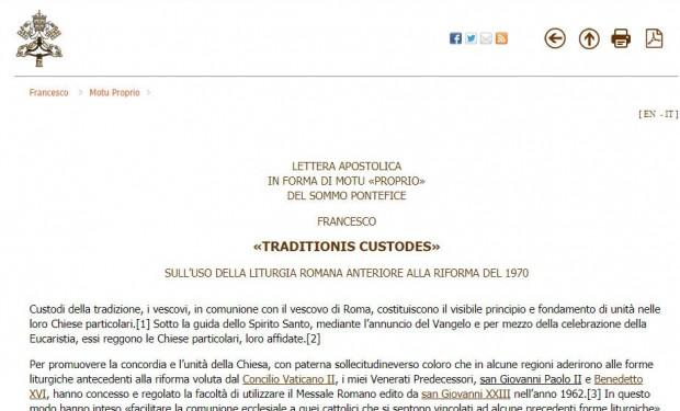Messa in latino: papa Francesco archivia la controriforma liturgica di Benedetto XVI