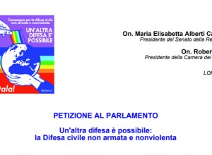 Difesa civile non armata e nonviolenta: una petizione al Parlamento