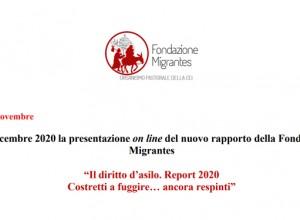 Dati e storie di migrazioni forzate. Presentazione Report 2020 della Fondazione Migrantes