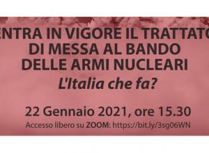 La sfida del disarmo nucleare e il ruolo dell'Italia: un incontro online